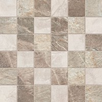 Фото ABK Ceramiche мозаика Fossil Mos Quadretti Mix Cream/Beige/Brown 30x30 (FSN03061)