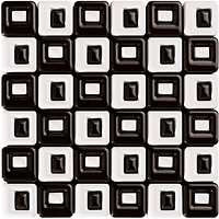 Фото Roca мозаика Calypso B&W Malla Chess Blanco-Negro 36x36