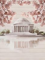 Фото Cersanit декор-панно Sakura Palace 45x60 (комплект 2 шт)