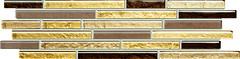 Фото Tubadzin фриз Venatello Mosaic Brown 9.8x37.2