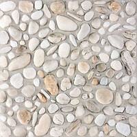 Фото Rako плитка напольная Pebbles белая 33.3x33.3 (DAR3B700)