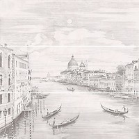 Фото Kerama Marazzi декор-панно Город на воде Venice 75x75 (12109R\3x\3F) (комплект 3 шт)
