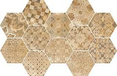 Фото Ragno ceramica декор Epoca Decoro Cementine Ocra 18.2x21 (R55T)