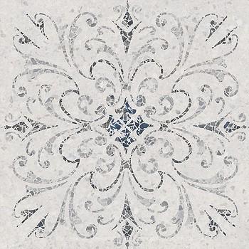 Фото Kerama Marazzi декор Терраццо светло-серый обрезной 60x60 (SG632500R)