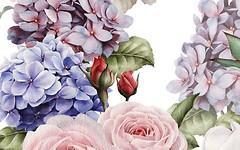Фото Golden Tile декор Gortenzia Flowers 1 25x40 (72Б311)