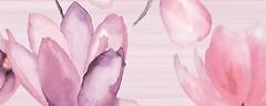 Фото Golden Tile декор Flora розовый 20x50 (1В5311)
