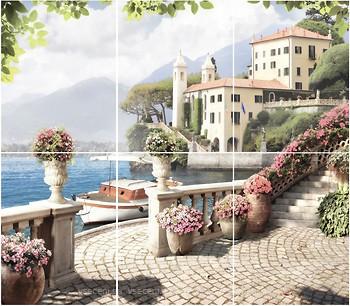 Фото Golden Tile декор-панно Troyanda Sorrento 66x75 (GT089P) (комплект 6 шт)