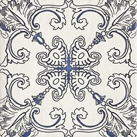 Фото Ceramika Paradyz декор Sevilla Dekor A Azul Struktura 19.8x19.8