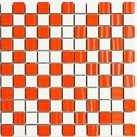 Фото Kotto Ceramica мозаика CM 3004 C2 Red Str/White 30x30