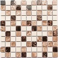 Фото Kotto Ceramica мозаика CM 3024 C2 Brown/Beige/White 30x30