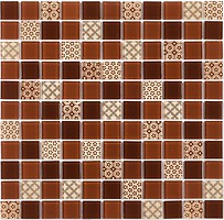 Фото Котто Кераміка мозаика GM 4054 C3 Brown D/Brown M/Structure 30x30