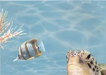 Фото БерезаКерамика декор Лазурь Морской мир 7 бирюзовый 25x35