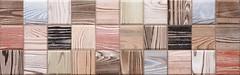 Фото Venus плитка мозаичная Timber Concrete Mosaic 25.2x80