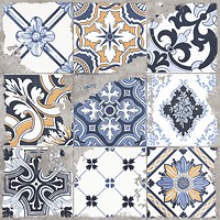Фото Golden Tile грес (керамогранит) декор Terragres Limestone Vintage 1 60x60 (23Б540)