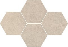 Фото Stargres мозаика Qubus Mosaic Heksagon Soft Grey 28.3x40.8