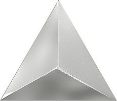 Фото ZYX плитка настенная Evoke Level Laser Silver Glossy 15x17
