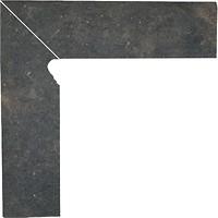 Фото Ceramika Paradyz цоколь Scandiano Brown 8.1x30 левый