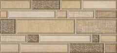 Фото Inter Cerama плитка настенная Textile светло-коричневая 23x50 (2350182031)