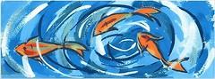 Фото Kerama Marazzi декор Салерно Рыбки 15x40 (STG\A385\15000)