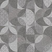 Фото Kerama Marazzi плитка напольная Фондамента темная декорированная обрезная 60x60 (DL601400R)