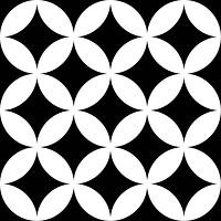 Фото Mayolica плитка District Circles Black 20x20