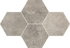 Фото Stargres мозаика Grey Wind Mosaic Heksagon Dark 28.3x40.8