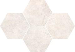Фото Stargres мозаика Grey Wind Mosaic Heksagon Light 28.3x40.8