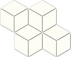 Фото Ceramika Paradyz мозаика прессованная Uniwersalna Mozaika Romb Heksagon Bianco 20.4x23.8