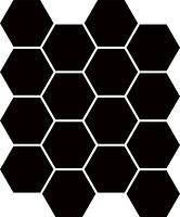 Фото Ceramika Paradyz мозаика прессованная Uniwersalna Mozaika Heksagon Nero 22x25.5