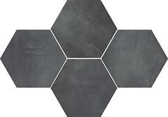 Фото Stargres мозаика Stark Mosaic Heksagon Graphite 28.3x40.8