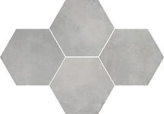 Фото Stargres мозаика Stark Mosaic Heksagon Grey 28.3x40.8