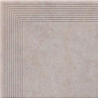 Фото Cerrad ступень угловая Cottage Engraved Stair Salt 30x30 (12822)