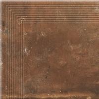 Фото Cerrad ступень угловая Piatto Engraved Stair Red 30x30 (17566)