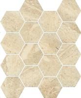 Фото Ceramika Paradyz мозаика прессованная Sunlight Mozaika Hexagon Stone Beige 22x25.5