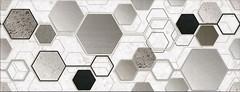 Фото Inter Cerama декор Techno серый 23x60 (Д167071)
