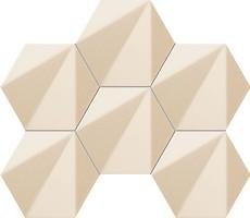 Фото Tubadzin мозаика Chenille Hexagon Beige 22.1x28.9