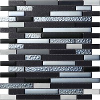 Фото Intermatex мозаика Quartz Black 30x30