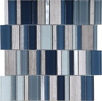 Фото Intermatex мозаика Stripes Cold 30x30