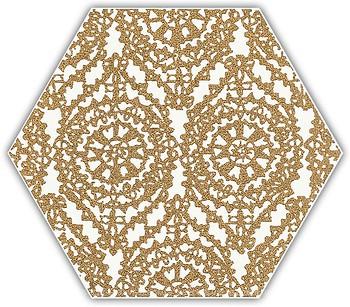 Фото Ceramika Paradyz декор Shiny Lines Heksagon Inserto A Gold 17.1x19.8