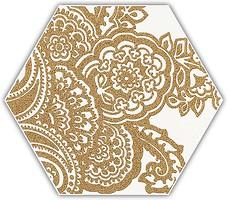 Фото Ceramika Paradyz декор Shiny Lines Heksagon Inserto B Gold 17.1x19.8