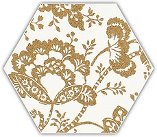 Фото Ceramika Paradyz декор Shiny Lines Heksagon Inserto C Gold 17.1x19.8