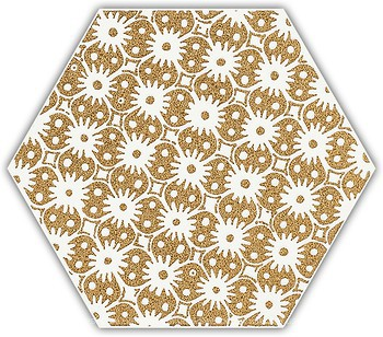 Фото Ceramika Paradyz декор Shiny Lines Heksagon Inserto D Gold 17.1x19.8