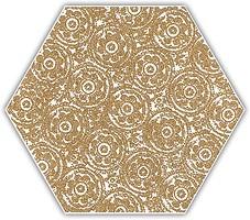 Фото Ceramika Paradyz декор Shiny Lines Heksagon Inserto F Gold 17.1x19.8
