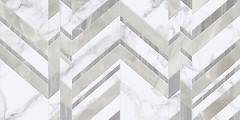Фото Golden Tile плитка настенная Marmo Bianco Chevron белая 30x60 (G70151)