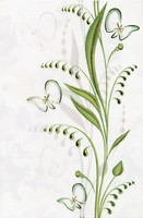 Фото БерезаКерамика декор Нарцисс Лето салатовая 20x30