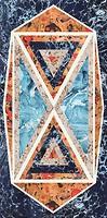 Фото Cedit плитка настенная Araldica Blasone Blu Glossy 120x240 (763510)