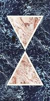 Фото Cedit плитка настенная Araldica Triangolo Blu Glossy 120x240 (763514)