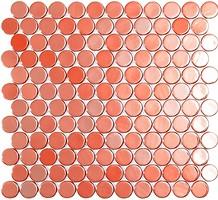 Фото Vidrepur мозаика Circle 6002C Live Coral Br 30.1x31.3