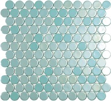 Фото Vidrepur мозаика Circle 6001C Turquoise Br 30.1x31.3