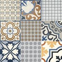 Фото El Molino плитка Logos Azul 60x60